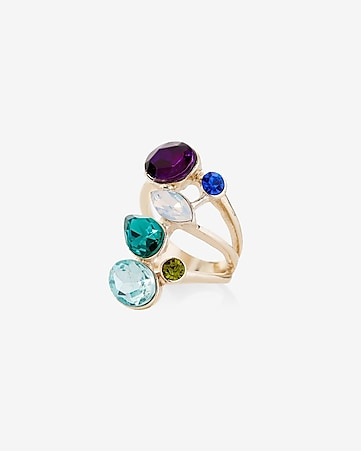 mixed stone ring