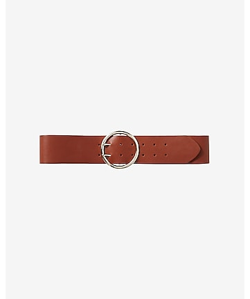round buckle wide belt