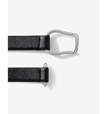 faux buckle adjustable belt