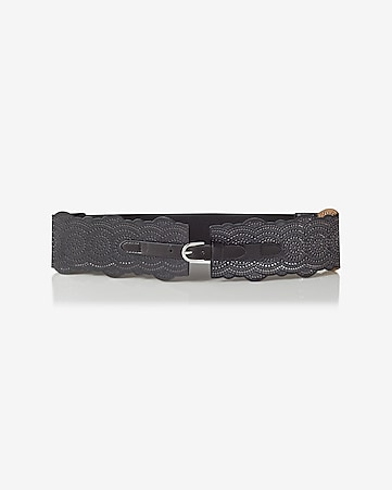 scalloped stretch back belt