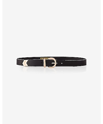 chevron tipped buckle belt