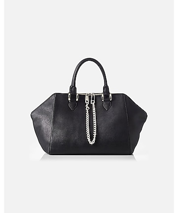 winged chain zip satchel