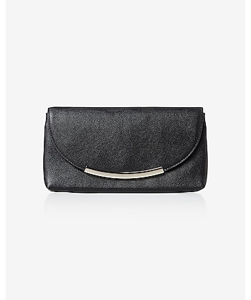 curved metal bar accent clutch