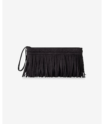 braided trim fringe clutch