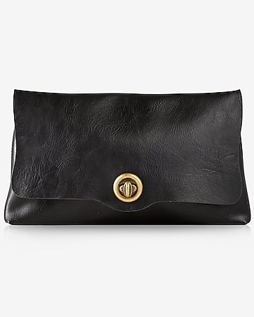 unlined fold over clutch