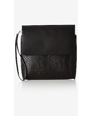 Express Womens Dual Texture Clutch at Express