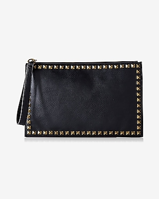 Express Womens Studded Border Clutch at Express
