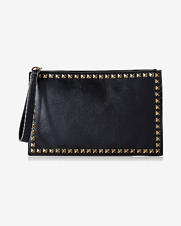 studded border clutch
