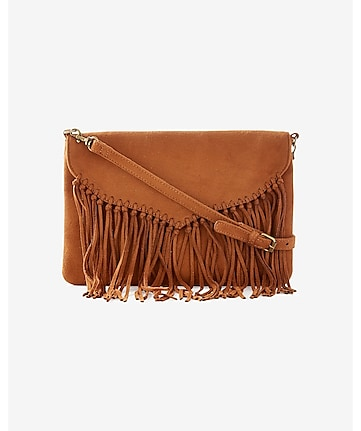 knotted fringe cross body bag