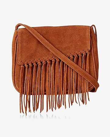 genuine knotted frnge cross body bag