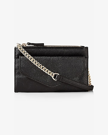 double zip flap front cross body bag
