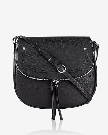 large zip flap saddle bag