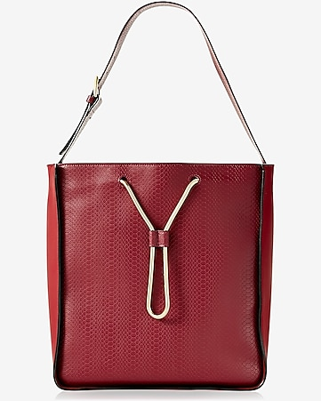 snake chain drawstring hobo bag