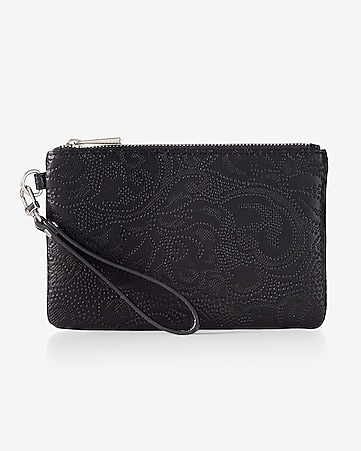 punched lace wristlet