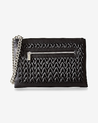 Express Womens Quilted Window Wristlet at Express