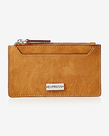 faux leather credit card holder
