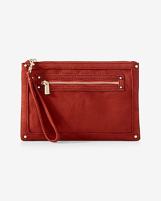 Express Womens Faux Suede Wristlet at Express