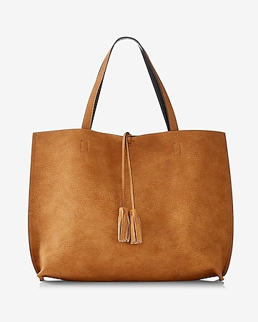 street level reversible tote with wristlet