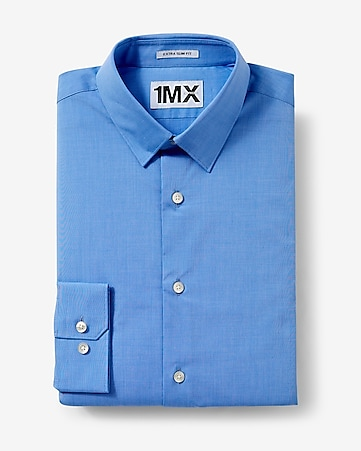 slim fit textured 1MX shirt