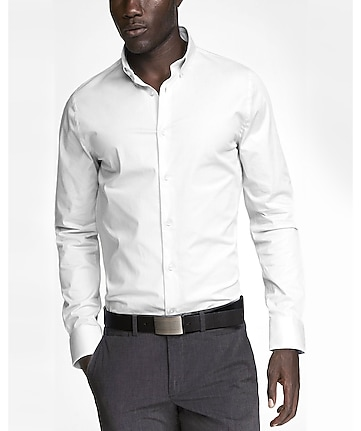 slim button-down collar 1MX shirt
