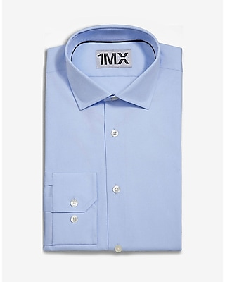 Express Mens Slim Spread Collar 1Mx Shirt