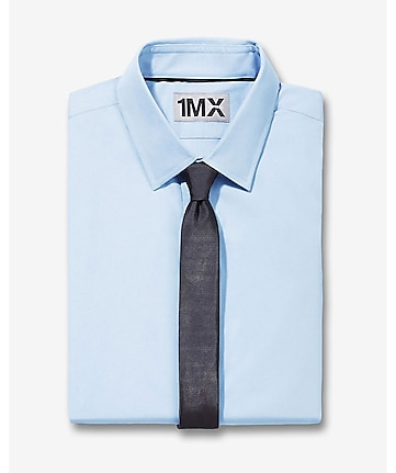 slim fit button-down collar 1MX shirt