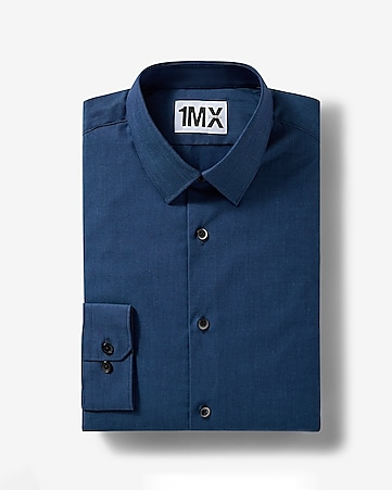 dark blue slim iridescent 1MX shirt