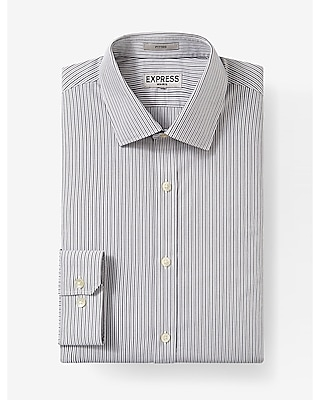 Express Mens Fitted Stripe Non-Iron Dress Shirt