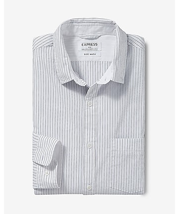 soft wash striped shirt