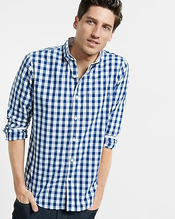 soft wash check shirt