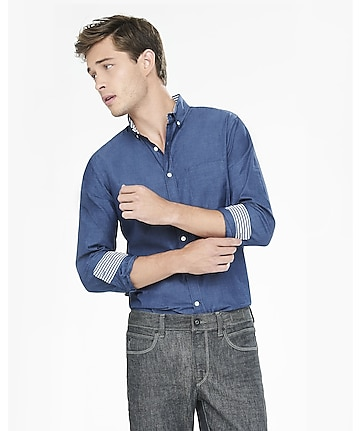 soft wash end-on-end shirt