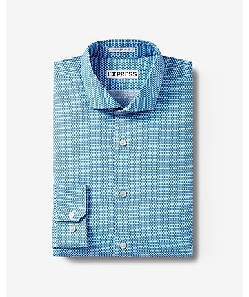 slim fit microprint dress shirt