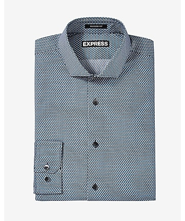 modern fit microprint dress shirt