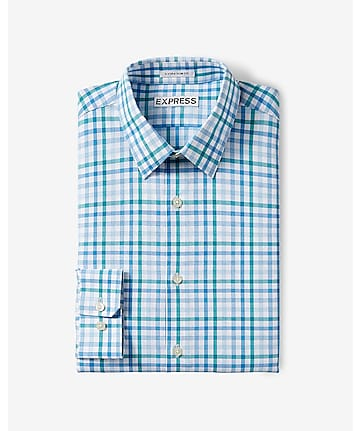 slim check dress shirt
