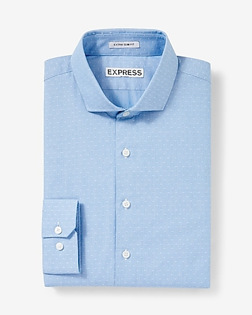 extra-slim micro print dress shirt