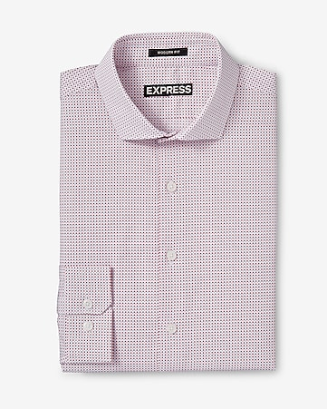 modern fit micro print dress shirt