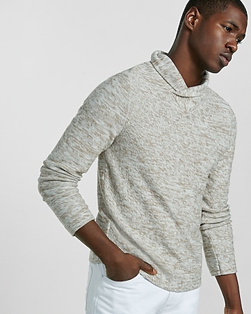 high crossover collar sweater