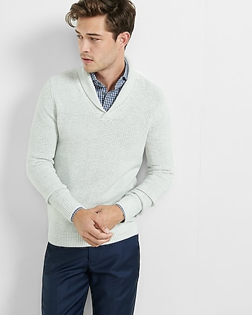 textured shawl collar popover
