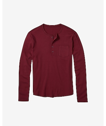 four-button pocket henley t-shirt