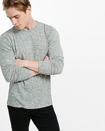 express one eleven brushed long sleeve tee