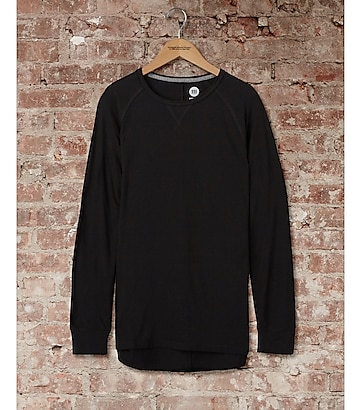 express one eleven long hi-lo sleeve tee