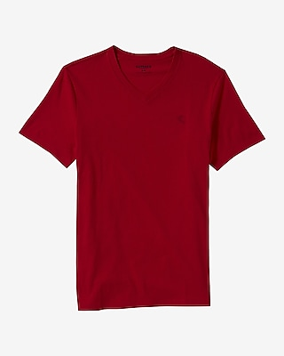 Express Mens Small Lion V-Neck Tee Red X Large