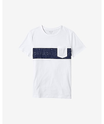 white chest stripe pocket t-shirt