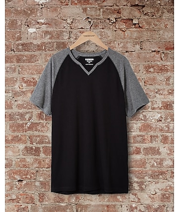 express one eleven soft wash raglan t-shirt