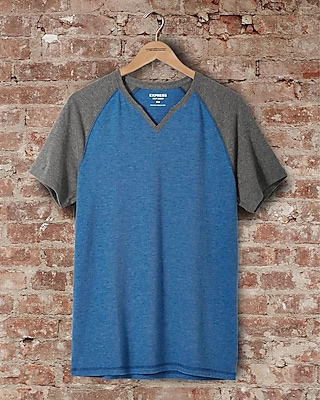 express one eleven soft wash raglan t-shirt - blue