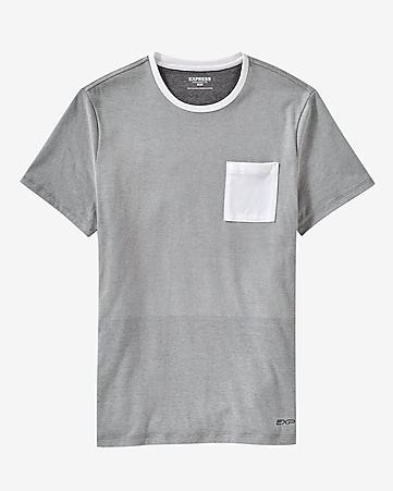 mesh and color block t-shirt