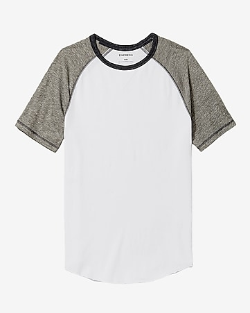 crew neck color block raglan t-shirt