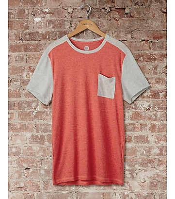 express one eleven raglan pocket t-shirt