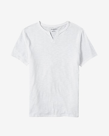 burnout notch neck t-shirt