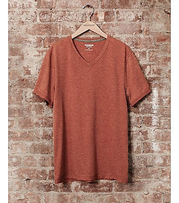 express one eleven soft wash v-neck t-shirt - cinnabar